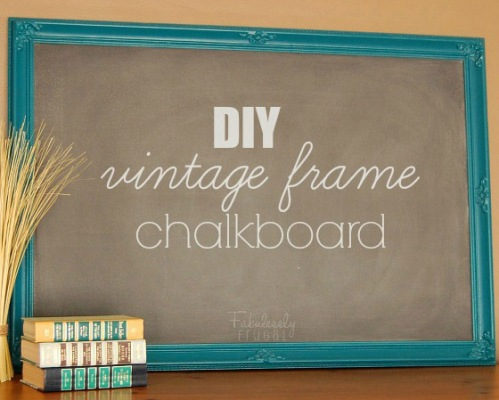 DIY-vintage-frame-chalkboard-decor-art-handmade-craft-make-your-own-chalkboard